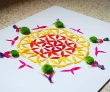 Flower of Life mandala ©Emma Tuzzio