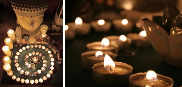 Winter Solstice candle ritual ©Emma Tuzzio