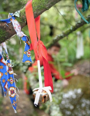 Clooties or prayer ribbons at Sacreed Holy Well ©Emma Tuzzio