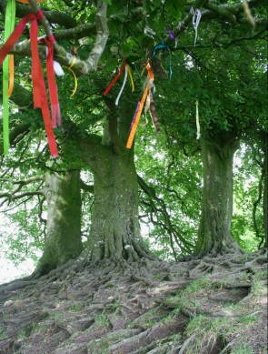 Clooties or prayer ribbons at Avebury ©Emma Tuzzio