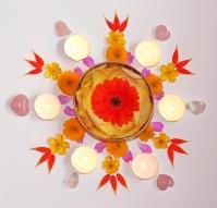 Summer Solstice flower mandala